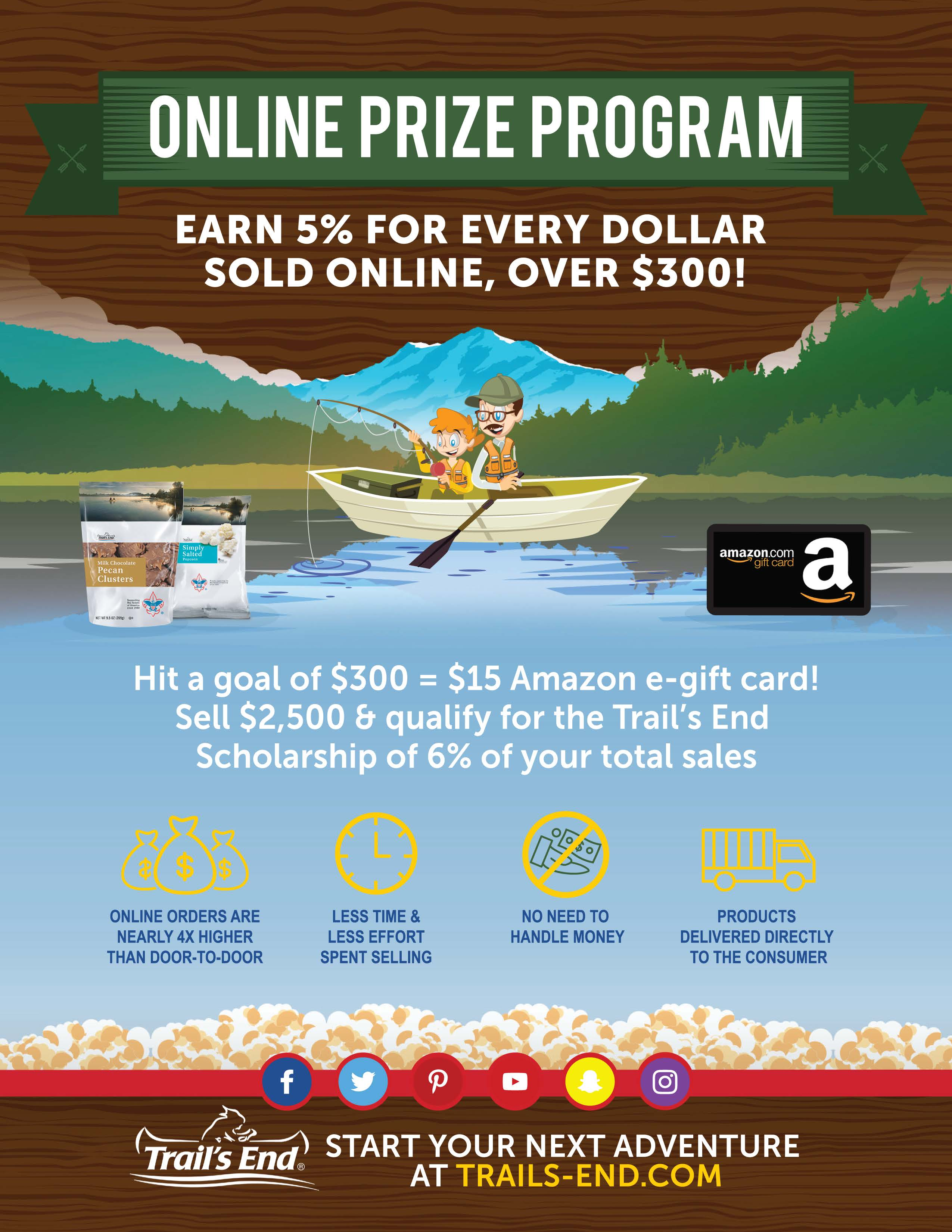 Trails end popcorn prizes 2018 movies