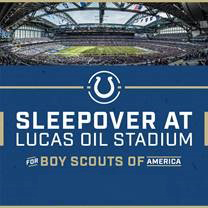 Sleepover at Lucas Oil Stadium